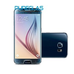 self-adsorbed for galaxy S6 glass screen guard, anti-bubble tempered screen protector with design