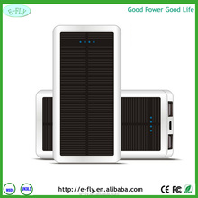 High Capacity portable power bank solar panel 12000mah solar power bank for mobile phone