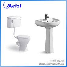 Ceramic modern two-piece twyford wc toilet set