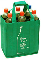 cheap non woven 6 bottle 6 pack cardboard water bottle carrier with handle