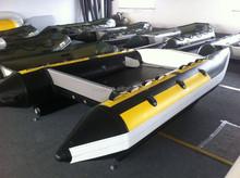 Liya 4.3m inflatable catamaran sailing high speed boat with plywood floor