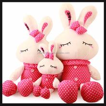 plush animal shaped cushion of big rabbit toy