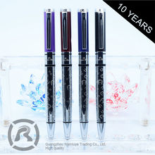Retail Hot New Products With Custom Sizes Black Square Ball Pen For Man