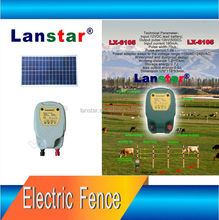 8KM 0.3J Solar Power Electric Fence Energiser Charger with Adjustable Solar Panel
