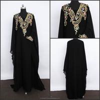 Cotton long kaftan designer Jilbab Abaya Dress Galabeya k1298