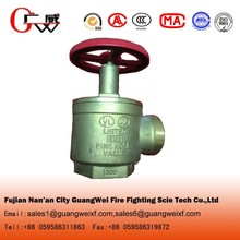 Brass angle fire hydrant valve