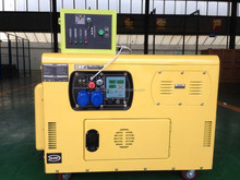 6KW 8kva 10kva AC Air Cooled Portable Diesel Generator With ATS