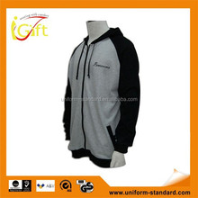 High quality hit sale zip up ribbed cuff cotton OEM fleece lined polyester sport jacket