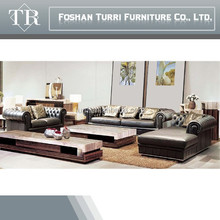 Luxury French Style Luxury Leather Living Room Furniture Sofa