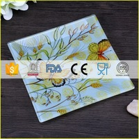 Customized latest decorative rooster glass plates
