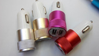 LED light 2 USB car charger 5V 2.1A multiple colors available
