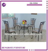 Upholstered dining chair Dining room furniture DS-10554/ clear glass beveled dining room set