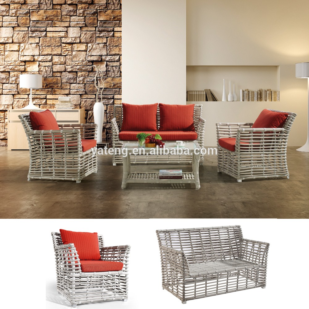 Hot sale patio outdoor furniture sofa synthetic wicker for Outdoor sofa set sale