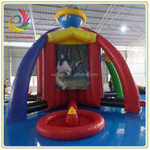 Ruilin 5 in 1 indoor inflatable sport games,inflatable baseball/basketball/football/soccer shooting games
