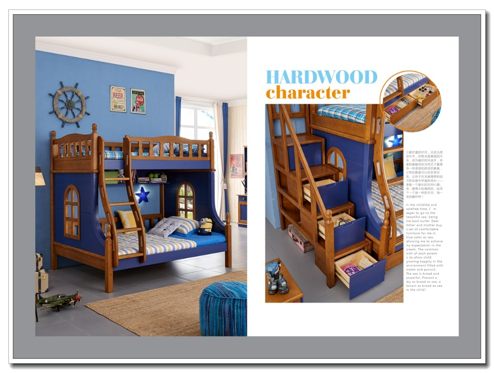Colorido crian as baratos cama de beliche de madeira for Camas de 1 plaza baratas