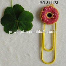 Fábrica prcie bela forma de flor bookmark com clipe