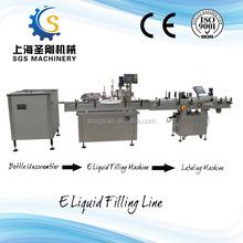 New-design Arranging Filling Capping Labeling filling Line electronic cigarette e liquid filler