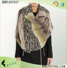 Multicolored Chunky-knit Shawl and Pashmina
