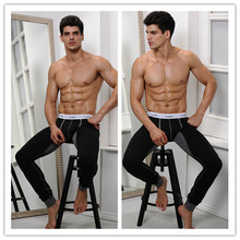 black long johns high quality cotton thermal pants for men