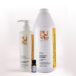 Keratin 8% Formalin 1000ml Hair Straightening and Deep Cleanning Hair Shampoo and Skin Care Argan Oil