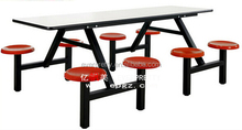 8 Seat Modern Heavy-Duty School Canteen Dining Table and Chairs Set