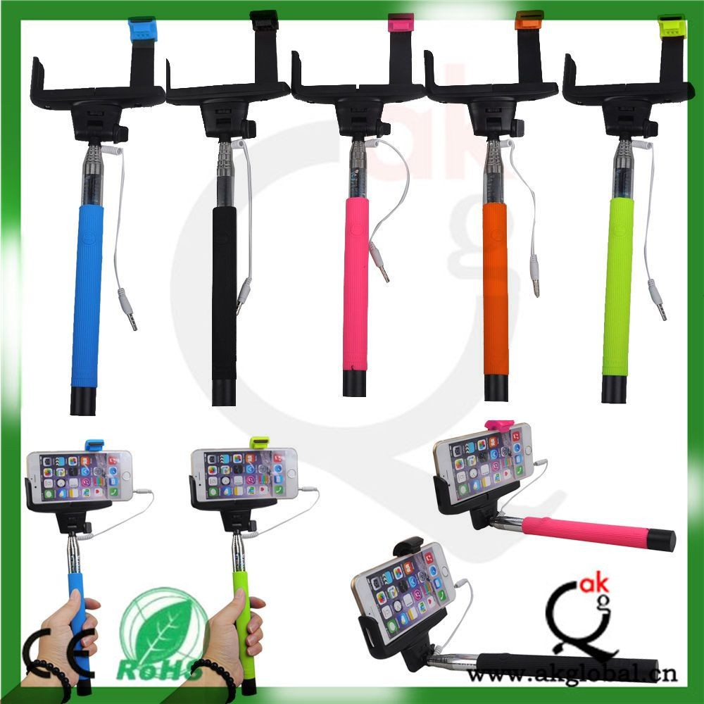 universal wired monopod selfie stick for iphone samsung htc buy selfie stick universal selfie. Black Bedroom Furniture Sets. Home Design Ideas