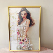hot sell sexy girl aluminum gold photo frames factory price