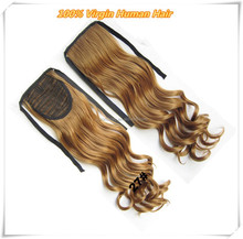 Factory Direct Sale Real Virgin Heathy Ends Hair Ponytail Styles For Black Female