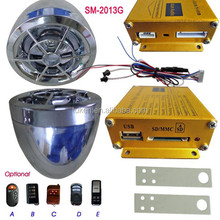 Motorcycle Alarm with mp3 player and FM radio system, High quality motorcycle MP3 alarm
