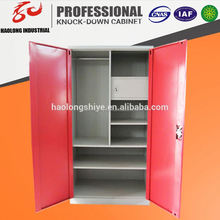 colorful KD steel decorative laminate wardrobes