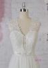 AG125 low back V neckline tulle A line bridal gowns