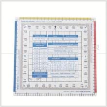 kearing brand Transparent Flight Square Ruler for student pilot transparent flight square ruler,#KPP-8