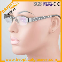 Half rim high quality man's metal optical frames with acetate temples 2 color good plating (PG109)