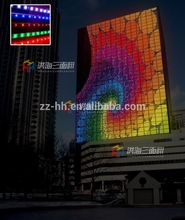 exterior building wall rgb glass window led display