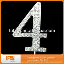 number crystal rhinestone cake toppers for wedding party