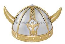 unisex PVC viking warrior horn helmet Viking hat fancy dress accessories gold & silver viking helmet wholesale HT5229