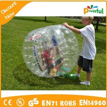 2015 high quality 1.0mm TPU inflatable bumper ball/ body zorbing bubble ball/bubble ball walk water