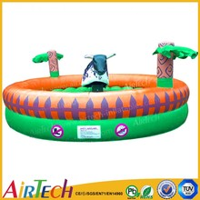 best selling new design mechanical inflatable bull rodeo game