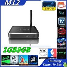 2015 new style alunminum tv case h 265 set top box Amlogic S805 Quad core M12 smart Android 4.4 tv box root kodi14.2 OTT TV box