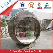 Luxury Outdoor rattan furniture garden furniture sun lounger