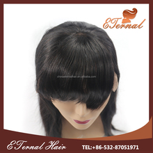 Natural Color Brazilian straight 20inch hair natural lace wig full head wigs glueless full lace wig with bangs