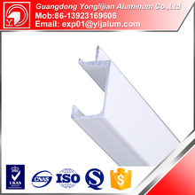White powder coated kitchen g handle aluminum profile for kitchen cabinet
