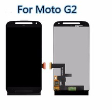 100% Original LCD Screen For Motorola for MOTO G2 G+1 XT1063 XT1068 XT1069 LCD Display Touch Digitizer Assembly With Frame