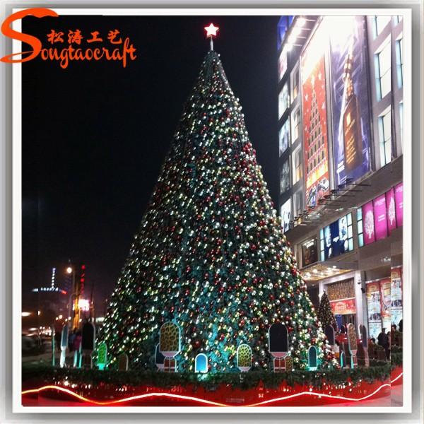 Chino decoraci n del rbol de navidad artificial gigante - Arbol de navidad exterior ...