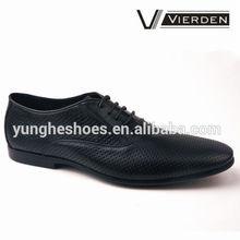 venta por mayor zapatos para los hombres con agujero zapato negro de cuero para hombres MJ750-1