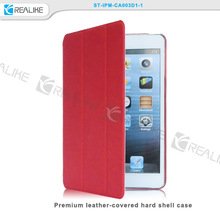 China supplier folio thin smart leather case cover for apple ipad mini 3