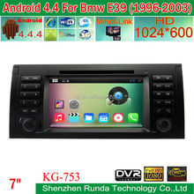 Newest Android 4.4.4 quad-core car dvd player for BMW 5 E39 Series 1996 to 2001