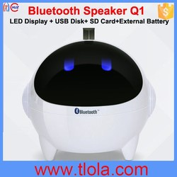 Spaceman Shape USB Speaker Built-in Bluetooth,FM Radio Support USB Disk SD Card Q1