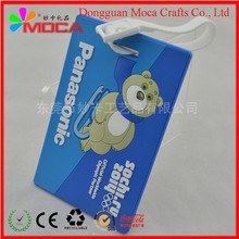 Custom Factory direct sales high quality PVC luggage tag for travel
