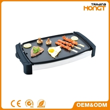 Non stick coating for easy cleaning Electric bbq grill